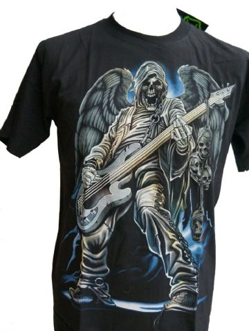 Rock Angel Skeleton T Shirts With Large Back Print (15)